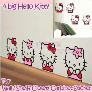 Hello Kitty 4 big Cute Wall Sticker Home Decor uu8a