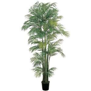 Real Looking 7 Areca Silk Palm Tree Green Colors   Silk