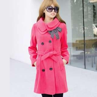 Long Womens Woolen Warm Winter Coat Jacket Outerwear