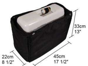 Sewing Machine Trolley Case Bag Silver   Janome Brother