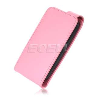 NEW PINK LEATHER FLIP CASE COVER FOR NOKIA C3