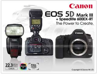 Canon EOS 5D Mark IIl 3 Body + Canon Speedlite 600EX RT  Zone 1 free