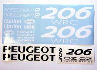 Peugeot Speedfight 206WRC sticker/decal kit
