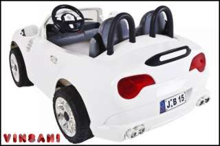 White 12V Twin Motor 2 Seater Electric Battery Kids Ride On Car Coupe