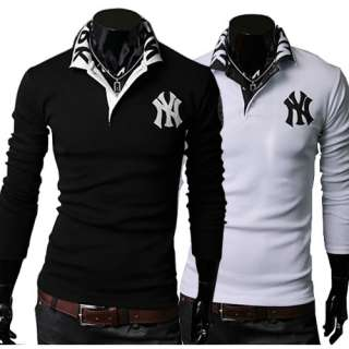 ST75 New Mens Casual Luxury Stylish Slim Fit Polo T Shirts 2 Colors