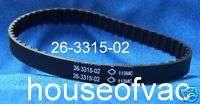 Electrolux PN5 PN6 PN7 26 3315 02 Vacuum Belt EXR 1080