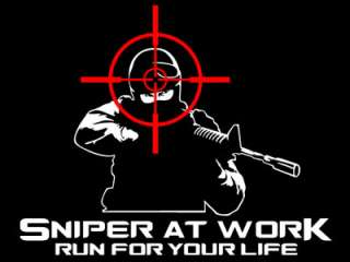 Shirt Sniper at Work Run for your Life  S bis XXL
