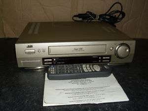 JVC HR S7500 VCR VIDEO RECORDER SVHS INSTRUCTIONS S VHS SUPER VHS