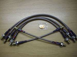 FORD SIERRA RS COSWORTH BRAIDED BRAKE HOSE KIT / LINES
