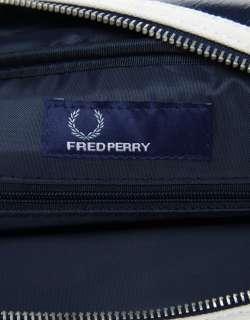 FRED PERRY Navy Messenger Bag Borsa tracolla blu pelle PVC ben sherman