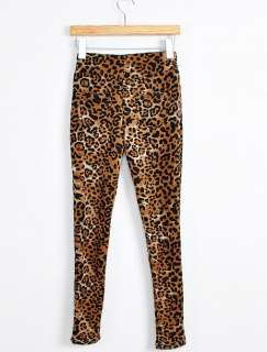 LEOPARD PANTALONS LEGGINGS EXTENSIBLE FLEECE INSIDE 1932