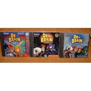 Dr. Brain CD Collection Mindadventure, IQ Adventure & Puzzle Madness