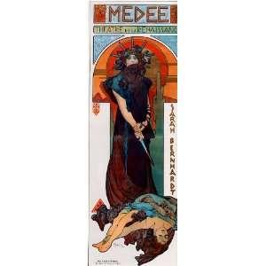 6 x 4 Mounted Photographic Print Mucha Alphonse Medee