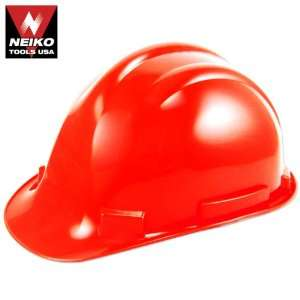 Neiko Tools USA Safety Hard Hat Helmet, Red Home Improvement