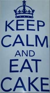 Keep Calm And Eat Cake Vinyl Kitchen/Room Wall/Cupboard Art Sticker