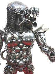 NEW METAL ART WARRIOR RECYCLED SCRAP METAL ART SCULPTURE   PREDATOR