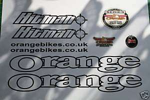 orange hitman mountain bike frame sticker decal set kit