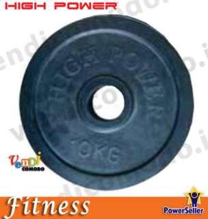 disco 20 kg ghisa HIGH POWER pesi disco gommato 50mm
