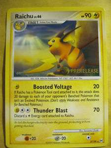 POKEMON PROMO CARD   RAICHU PRERELEASE #27/99   RARE