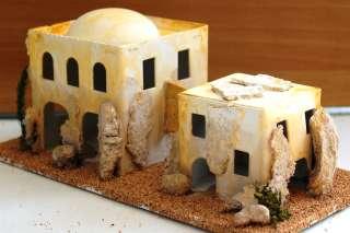 27116/3 2 Minareti stile arabo misure cm.10x6x9 Presepe Natale Pastori