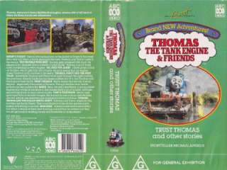 THOMAS THE TANK ENGINE TRUST THOMAS !VHS VIDEO PAL~ A RARE FIND