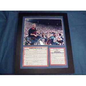 Framed Ny Giants Sbxxv Bill Parcells Celebration: Sports & Outdoors