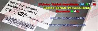 TABLET PC 7 UG 8650 VIA PAD ANDROID 2.2 FROYO WIFI USB