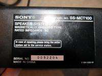 SONY Sound Bar ONLY SS MCT100 Speaker Used