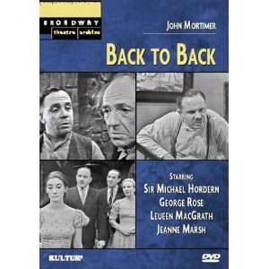 Back to Back (Broadway Theatre Archive) Jean Marsh