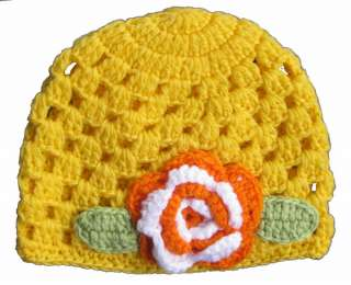New Spring Crochet Beanie Shell Hat for Baby Toddler Child Kids 5