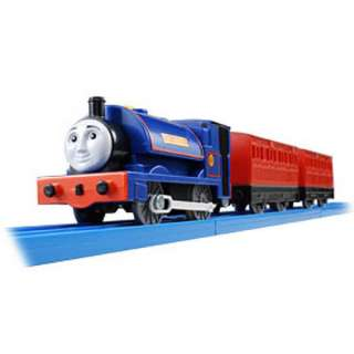 TOMY PLARAIL THOMAS FRIEND SIR HANDEL WITH 2 TRUCKS