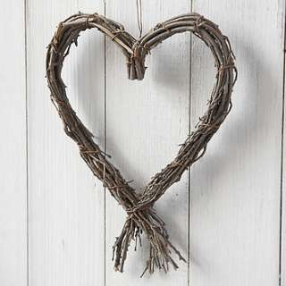 hanging twiggy heart by live laugh love