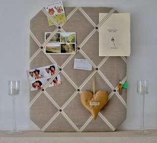 Buy Natural Linen Fabric Notice Board By Heavenly Hearts from