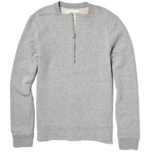 Maison Martin Margiela Cotton Sweater with Zip Detail  MR PORTER