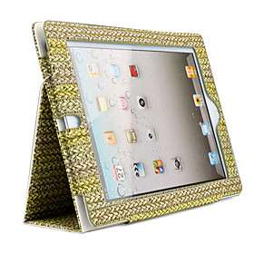 US$ 13.36   Unique Protective PU Leather Case Stand for Apple iPad 2