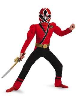 Power Ranger Samurai Red Ranger Boys Muscle Costume
