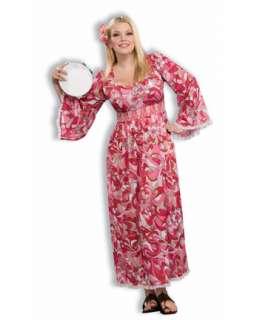 Womens Plus Size Hippie Flower Child Costume