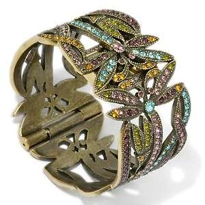 Heidi Daus Dancing Dragonfly Crystal Cuff Bracelet Watch