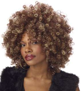 Fine Foxy Fro Wig in Brown/Blonde   Costume Wigs