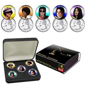 Michael Jackson 5 Decades Coin Collection