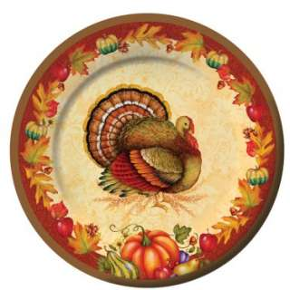 Halloween Costumes Thanksgiving Blessing 8 Dessert Plates (8 count)