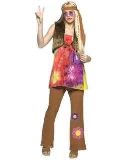 Hippie Girl Adult Costume  Wholesale 60s Halloween Costume for Women