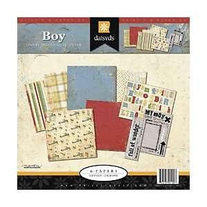 Daisy Ds 12 x 12 Scrapbook Page Kit   Chasing Butterflies Boy at