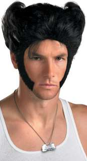 Wolverine Accessory Kit  X Men Origins Wolverine Wig and Dog Tag
