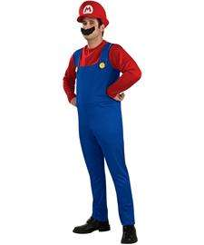 Super Mario Adult Costume  Adult Mario Costume