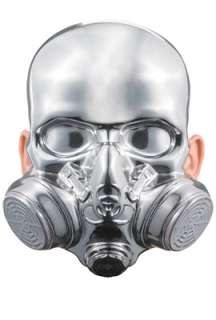Bio Hazard Chrome Mask for Halloween   Pure Costumes
