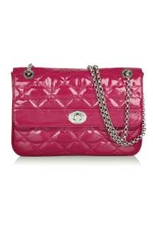 Raspberry Quilted Lips Large Eyelet Anna by Lulu Guinness   Pink   Buy