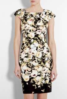 Paul Smith Black  Border Floral Cap Sleeve Dress by Paul Smith Black
