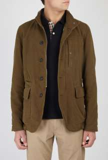CP Company  Khaki Brushed Moleskin Army Jacket by CP Company