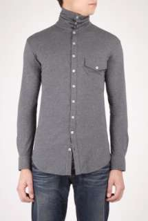 Dark Grey Jersey Roll Neck Shirt by B Store   Grey   Buy Shirts Online
